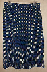 EXCELLENT WOMENS LESLIE FAY POLKA DOT PRINT SKIRT SIZE 12