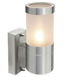 Single Stainless Steel Wall Light Outdoor With Frosted Glass Cover Ip44 Zlc016