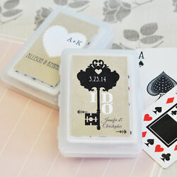 140 Sets Vintage Wedding Personalized Playing Cards Bridal Wedding Shower Favors