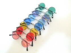 John Lennon Style Sunglasses Vintage Retro Classic Circle Round For Small Faces. $9.49