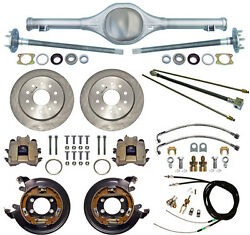 Currie 55-57 Chevy Rear End And Disc Brakeslinesparking Brake Cablesaxlestri-5
