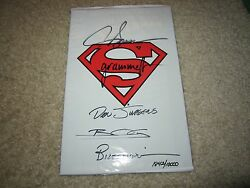 Adventures Of Superman Sealed Polybagged Signed X5 Breedingjergensothers
