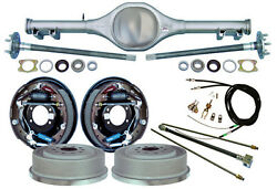 Currie 68-74 X-body Mono-leaf Rear End And 11 Drum Brakeslinese- Cablesaxles