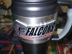 Nfl Great American Falcons 20 Oz Travel Mug Stainless/plastic New