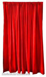Custom Made Stage Theatre Backdrop Drapes Red Velvet 18ft Curtain Long Panel