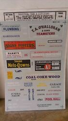 Micro Scale Decals 87-165 Ho Scale Industrial Town And City Signs