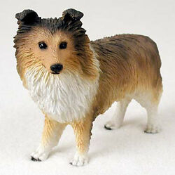 Sheltie Figurine Hand Painted Collectible Statue Sable