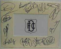 10 X 8 Inch Mount Personally Signed By 13 Of The Dundee 2014-15 Squad