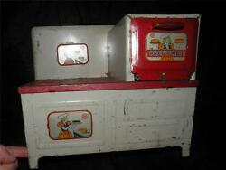 Vintage Marx Pretty Maid Metal Toy Stove Oven