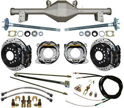 Currie 79-93 Mustang 5-lug Rear End And Wilwood Drilled Disc Brakesblack Calipers
