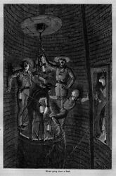Coal Miners Going Down A Mine Shaft Miner Lantern Antique Engraving Coal History