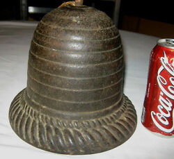61 Civil War Antique Primitive American Country Cast Iron Bee Hive String Holder