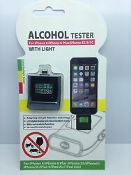 Lot Of 25 New Alcohol Tester Breathalyzer For Phone 6 6 Plus 5 5s 5c
