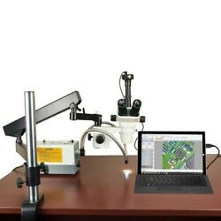 2-270x Stereo Microscope+articulated Stand+cold Light+aux Lenses+5.0m Usb Camera