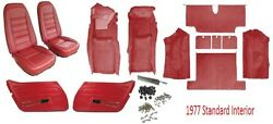 1977 Corvette Interior Package Carpet Seat Covers And Kit And Door Panels C3