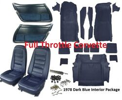 1978 Corvette Interior Package Includes Carpet Door Panels Seat Covers And Kit C3