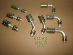 Ac A/c Beadlock Fittings Male O Ring Straight45 And 90 Degree 68 And10 8 Pc