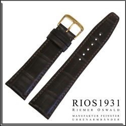 18x16 Mm Rios1931 For Panatime - Mocha Spitfire - Alligator Watch Band For
