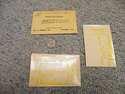 Walthers Decals O Gauge Union Pacific Streamliners Serves West  M25