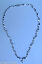 Love Floral And Ribbon 2 Carat Diamond Necklace 14k White Gold Save 2000