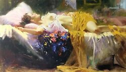 Pino Rapture   Signed Embellished Giclee/canvas   24x40   Stretched   Gallart