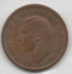 Australia, 1943m, 1/2 Penny, Bronze, Km41, Choice Almost Uncirculated 002