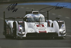 Oliver Jarvis And Filipe Albuquerque Hand Signed Audi Sport Photo 12x8 Le Mans 6