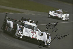 Oliver Jarvis And Filipe Albuquerque Hand Signed Audi Sport Photo 12x8 Le Mans 7