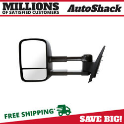 Side View Mirror Tow Manual Black Driver For 2007-2013 Chevrolet Silverado 1500