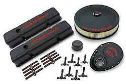 Proform 141-758 Black Crinkle Deluxe Dress-up Kit For Chevy Small Block Engines