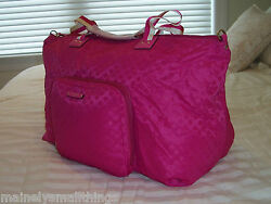 NWT KATE SPADE ROMA Bon Voyage Large Nylon Pop Up Duffle Bag Vivid SNAPDRAGON