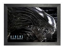 11 Aliens Colonial Marines Movie Picture Old School Film Sci Fi Vintage Poster