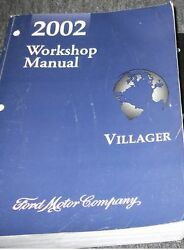 2002 Ford Mercury Villager VAN Service Shop Repair Manual 2002 FACTORY OEM MINI