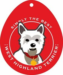 West Highland Terrier Westie Sticker 4×4″