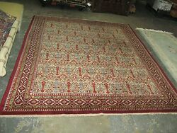 Vintage Russian Marked Azerbaijan Hand Knotted Wool Caucasian Rug 6and0398 X 8and0396