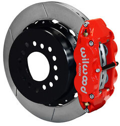 Wilwood Disc Brake Kit,rear Parking,gm/chevy Staggered Shocks,13 Rotors,red Cal