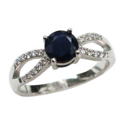 Superb 0.5 Ct Genuine African Sapphire 925 Sterling Silver Ring Size 5-10