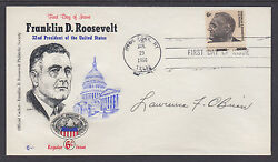 Lawrence F. O'brien, Us Postmaster General, Signed Fdr Fdc