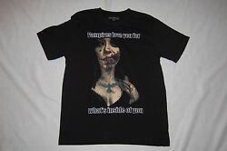 MENS Tee Shirt SS black VAMPIRES LOVE YOU FOR WHATS INSIDE OF YOU 38-40 M $16.00