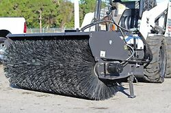 Skid Steer 7 Ft Sweeper by SweepsterAll Poly12-25 GPM Fits Bobcat Case Cat