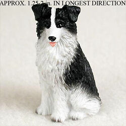 Border Collie Mini Hand Painted Figurine