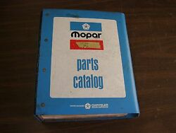 Oem 1973 Dodge Chrysler Plymouth Dart Master Parts Book Imperial Coronet Valiant