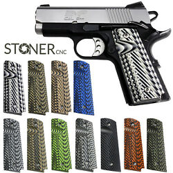 1911 Slash And Burn Grips G10 Full Size Or Compact Or Springfield Emp Or Pt1911