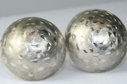 Vintage 1960and039s Large Dome Wells Sterling Silver Cufflinks