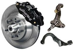 Wilwood Disc Brake Kit,spindles,steering Arms And Lines,front,67-69,13 Rotors,blk