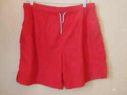 Menand039s Jos A. Bank Red Nyllon Swim Trunks-l