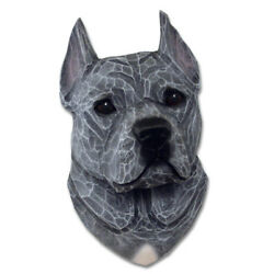 American Staffordshire Terrier Head Plaque Figurine Blue