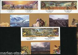 UNITED NATIONS 1993 ENVIRONMENT CLIMATE  SET OF THREE MAXIMUM CARDS
