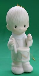 Precious Moments Ill Play My Drum For Him 1982 Issue Christmas Ornament E-2359