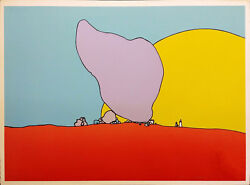 Peter Max Rocks And Sun 1971 | Vintage Hand Signed Print | Very Rare | Gallart